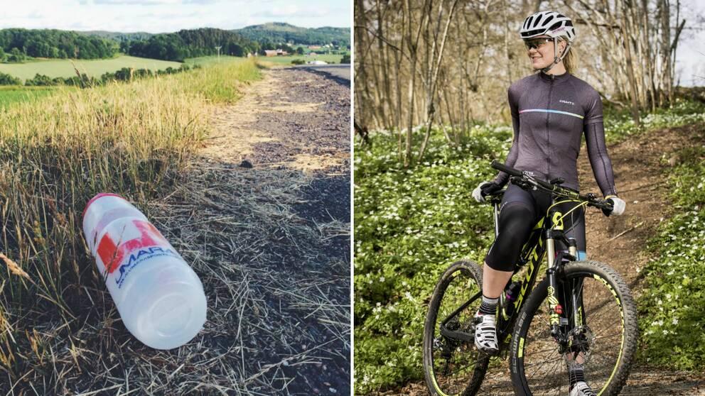 Cykelfantasten Elna Dahlstrand bestämde sig för att ta upp nedskräpningen i sin blogg.