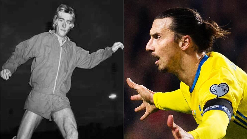 Fotbollsspelaren Björn Ranelid, Helsingborgs Idrottsförening 1971 och Zlatan Ibrahimovic.