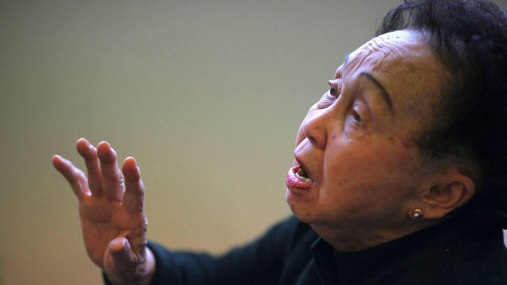 Madame Thai Thi Lien, 94-årig pianist i Vietnam är en av de som har passerat medellivslängden för landet, 75 år.