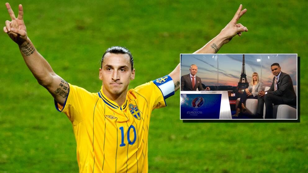 Se Zlatan Ibrahimovics alla 62 mål i kvällens EM-magasin.