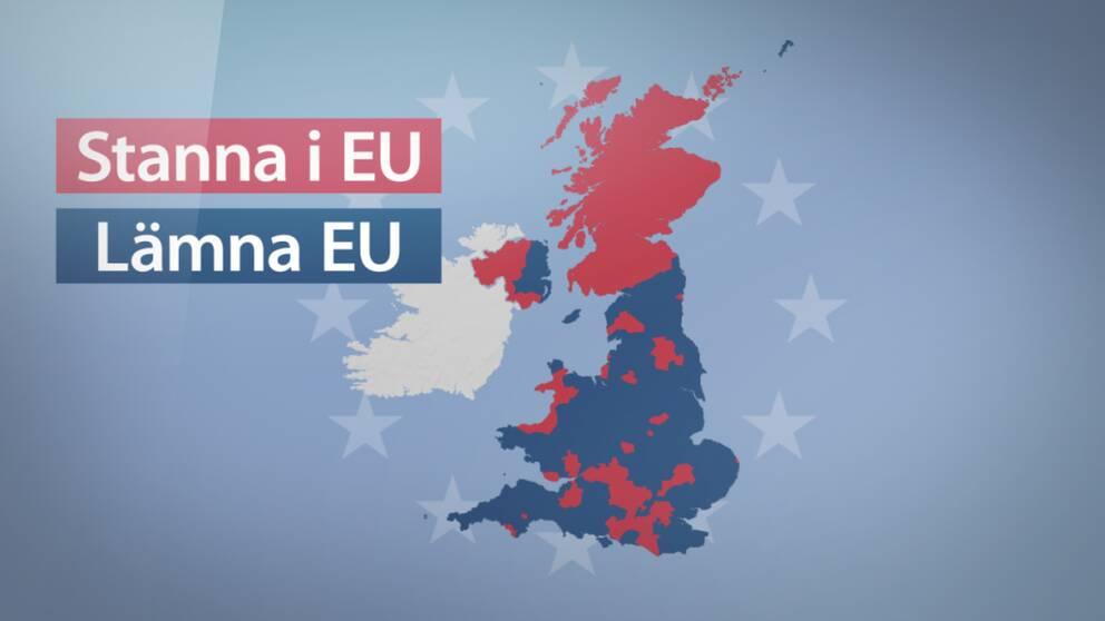 Så röstade de olika regionerna i folkomröstningen