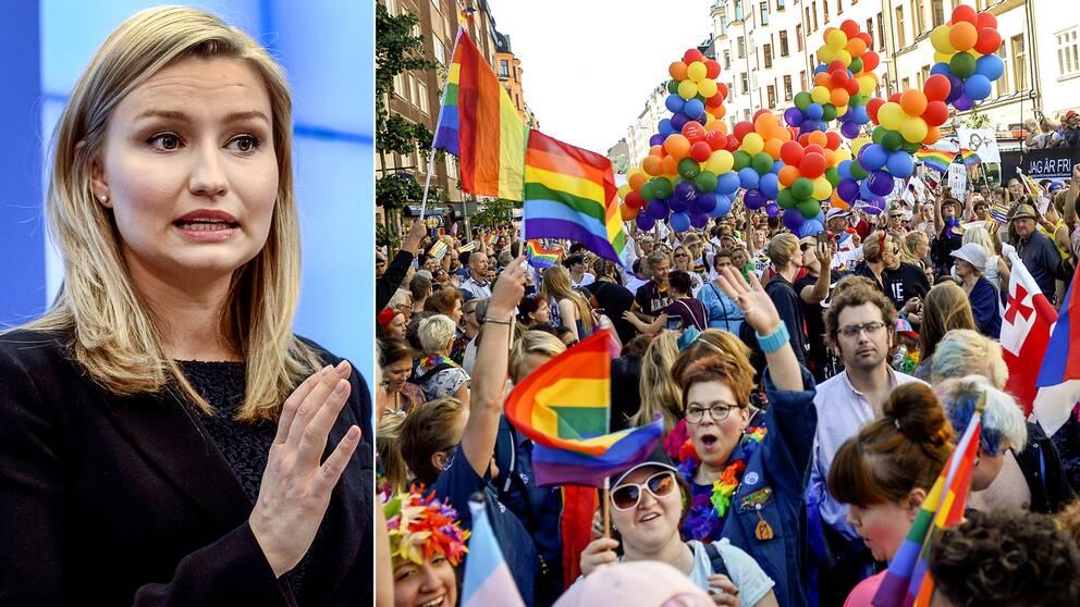 Ebba Busch Thor, partiledare för Kristdemokraterna, vill gå i prideparaden i Stockholm i år – men alla inom partiet tycker inte att det är en speciellt bra idé.