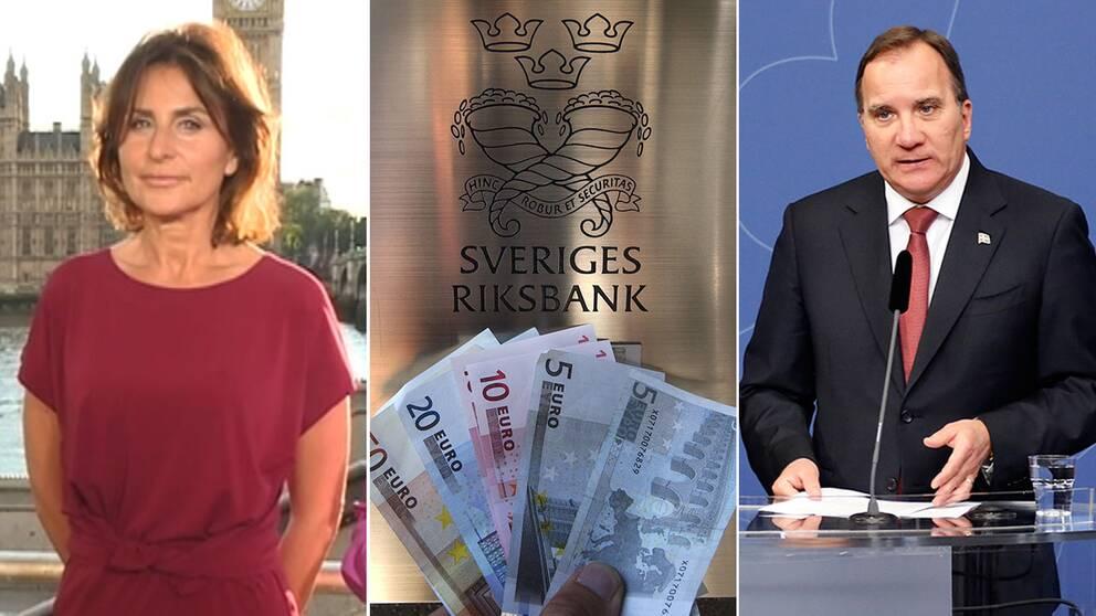 Maria Borelius, kolumnist och företagare, varnar för att brexit kan leda till att Sverige tvingas in i euron.