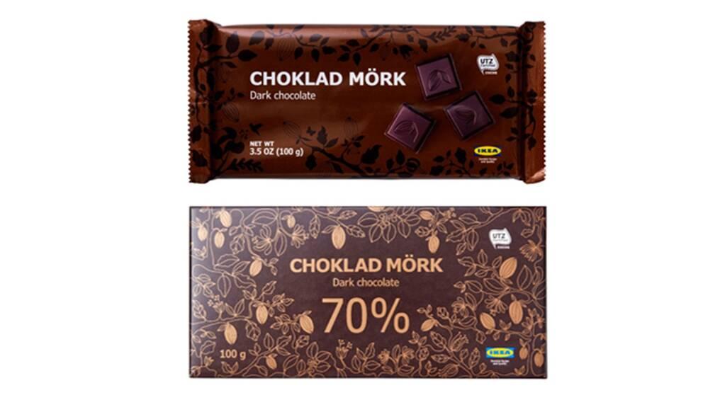 innehåll i choklad