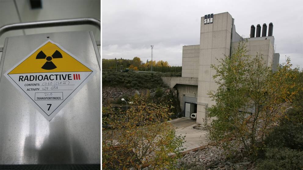 Svensk Kärnbränslehantering AB:s anläggning SFR (slutförvaring för radioaktivt driftavfall) i Forsmark där låg och medelaktivt radioaktivt avfall förvaras nere i urberget.