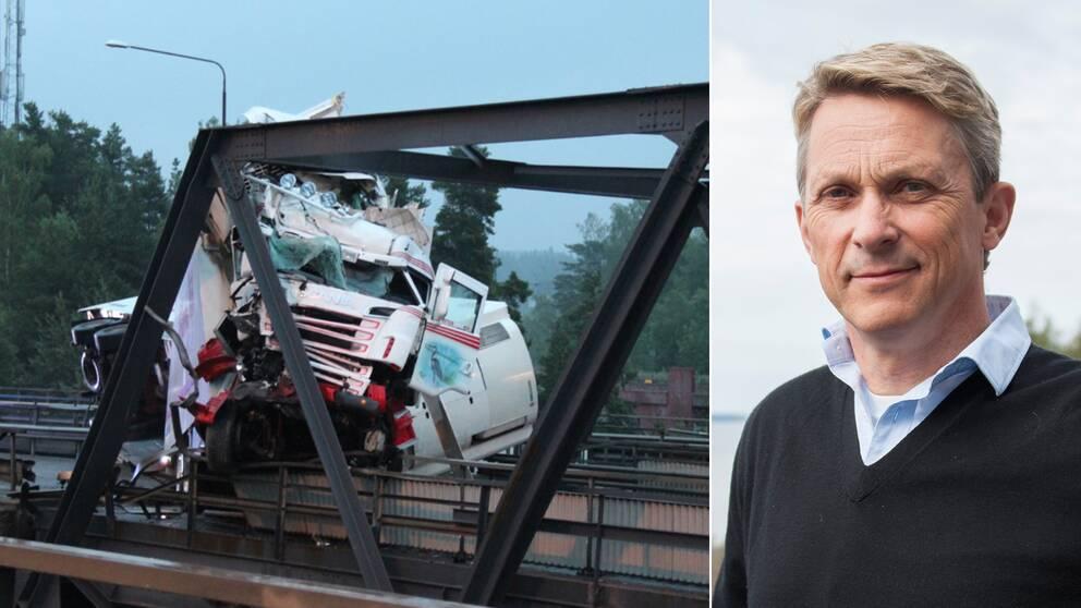 Motorvägsbron i Södertälje kommer att vara avständ under hela sommaren.