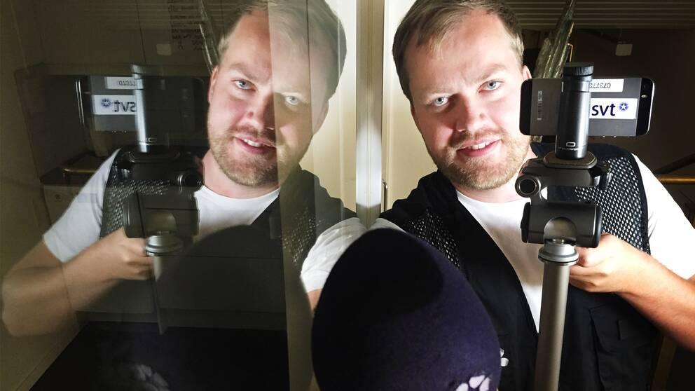 SVT Gävleborgs reporter Erik Engelro rapporterar från Almedalen.