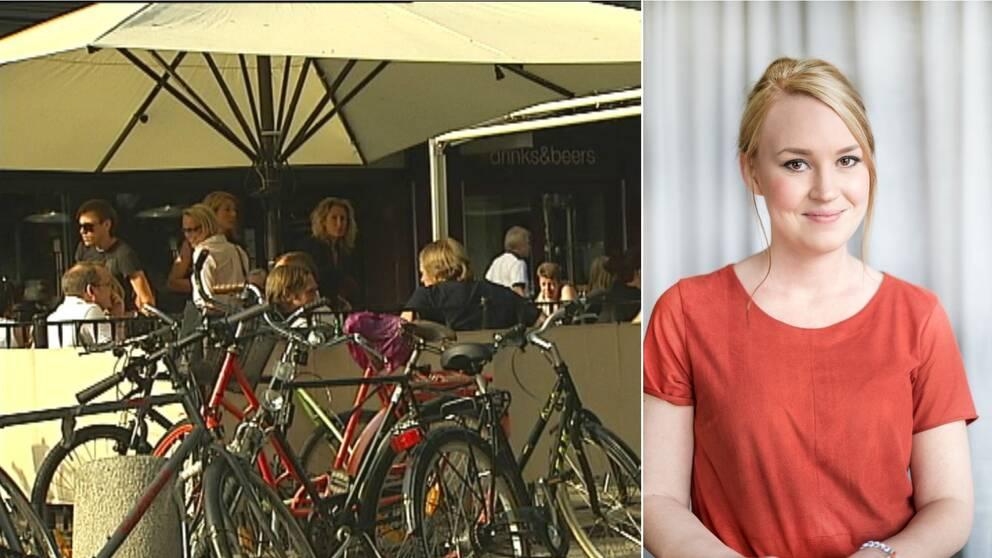 Uteservering och Sara Nordström