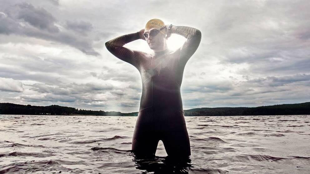 Mats Goldberg hoppas bli den förste att simma genom hela Dalälven.