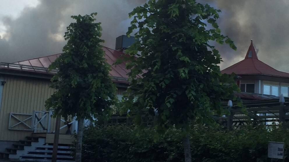 Brand i värdshuset på Torekällberget.