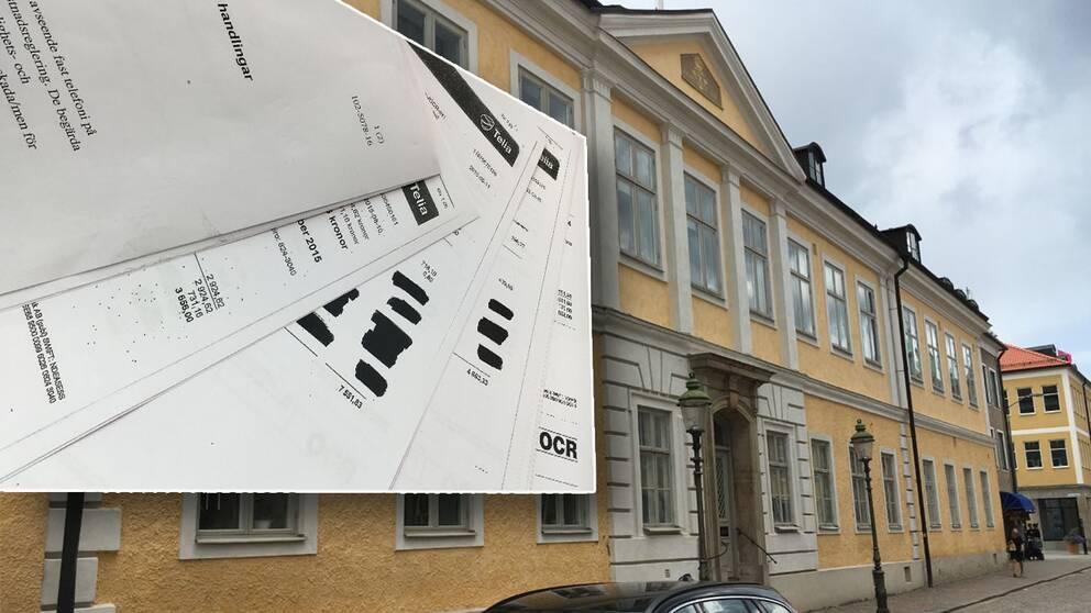 residens, länsresidens, Kalmar, fakturor