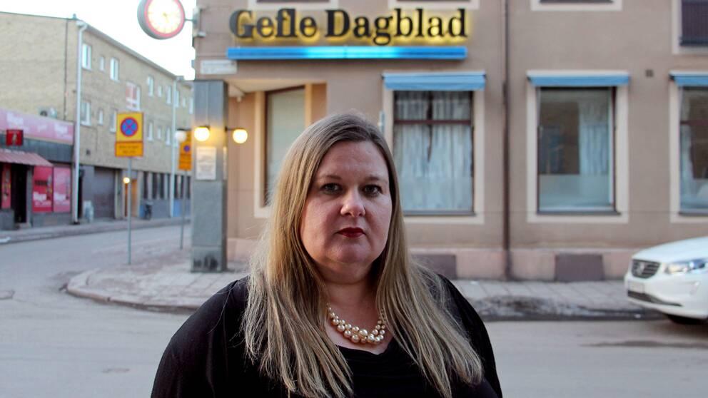 Anna Gullberg, chefredaktör på Gävle Dagblad.