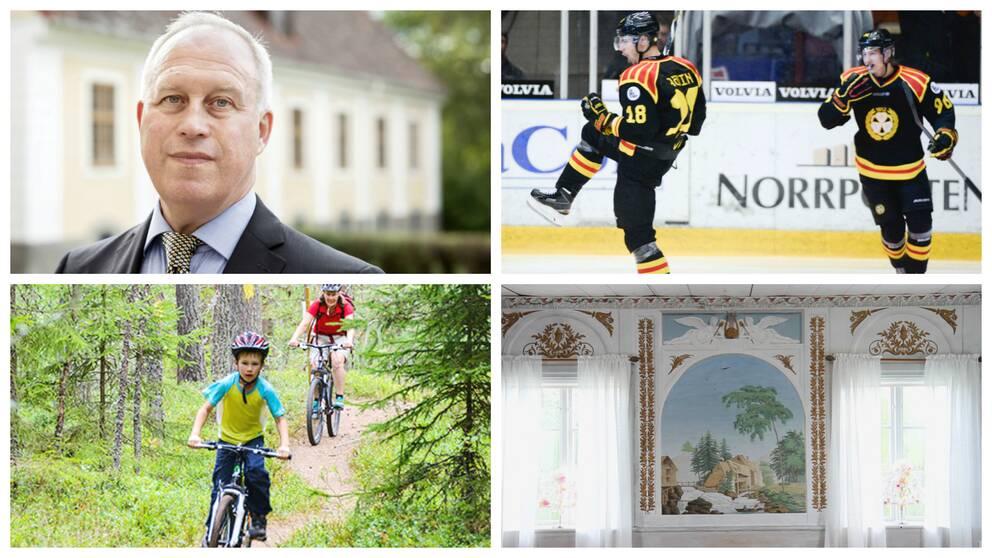 Pär Bill, Brynäs iF, cyklande pojke och hälsingegårdarna