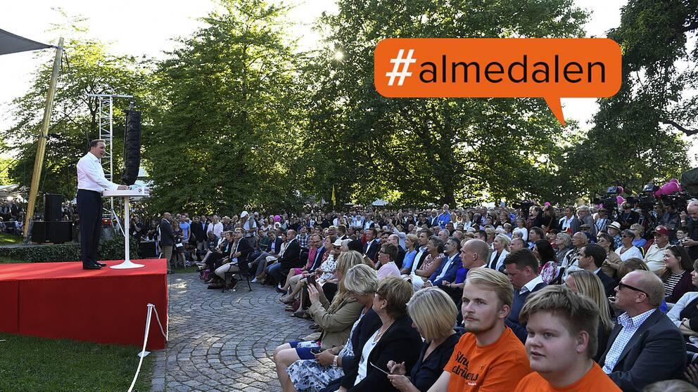 Statsminister Stefan Löfven (S), Almedalen 5 juli 2016.