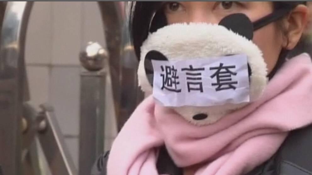 Idag protesterade journalisterna på tidningen Southern weekend mot censuren i Kina