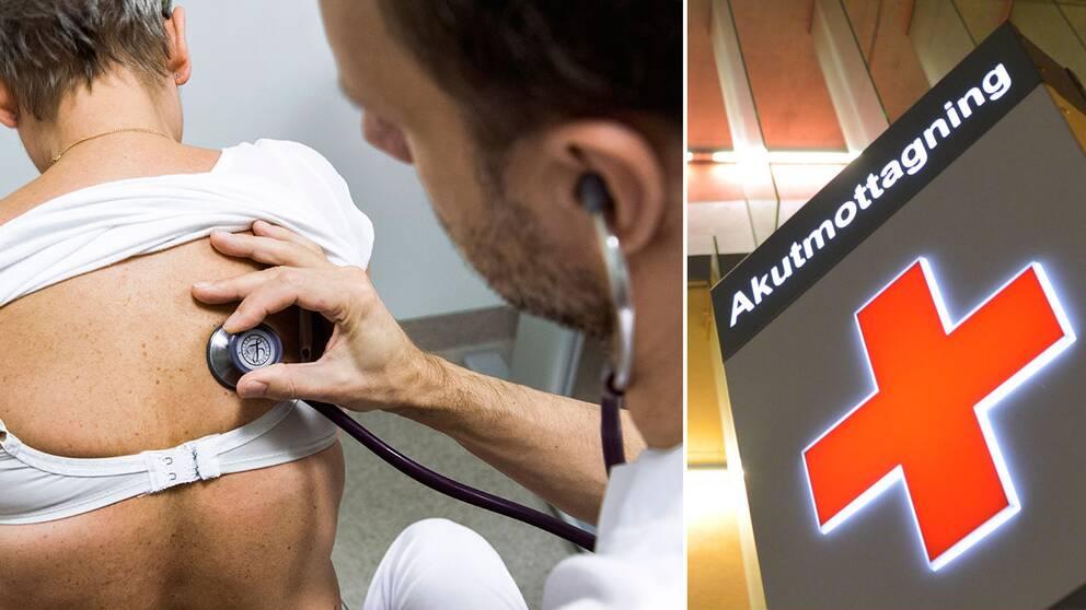 Läkare och akutmottagning. Personerna och sjukhuset på bilden har ingen direkt koppling till fenomenen artikeln.