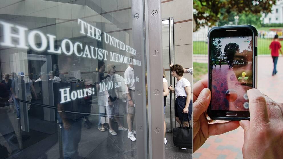 USA:s museum till minne av förintelsen i Washington DC upplever ett problem med att folk kommer dit för att leta rätt på figurer i sina mobiler istället för att ta del av det som museet har att erbjuda.