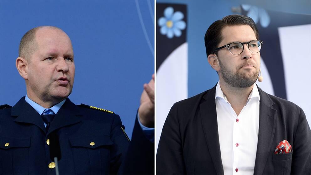 Dan Eliasson och Jimmie Åkesson.