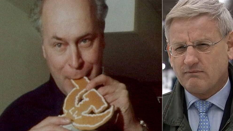 Lars Werner (V) och Carl Bildt (M). Foto: SVT