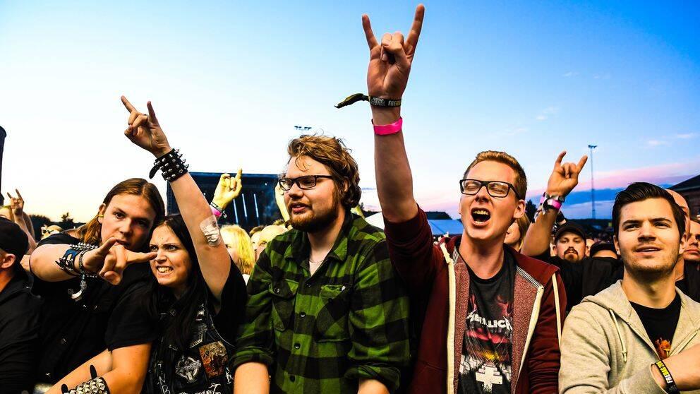 Publik på Gefle Metal Fest 2016.