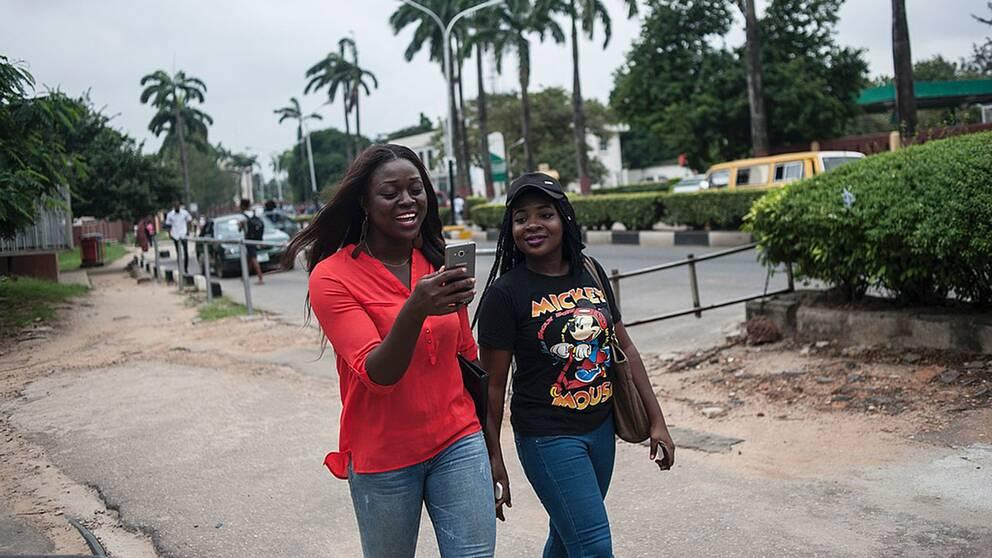 Mobilspelare i Lagos.