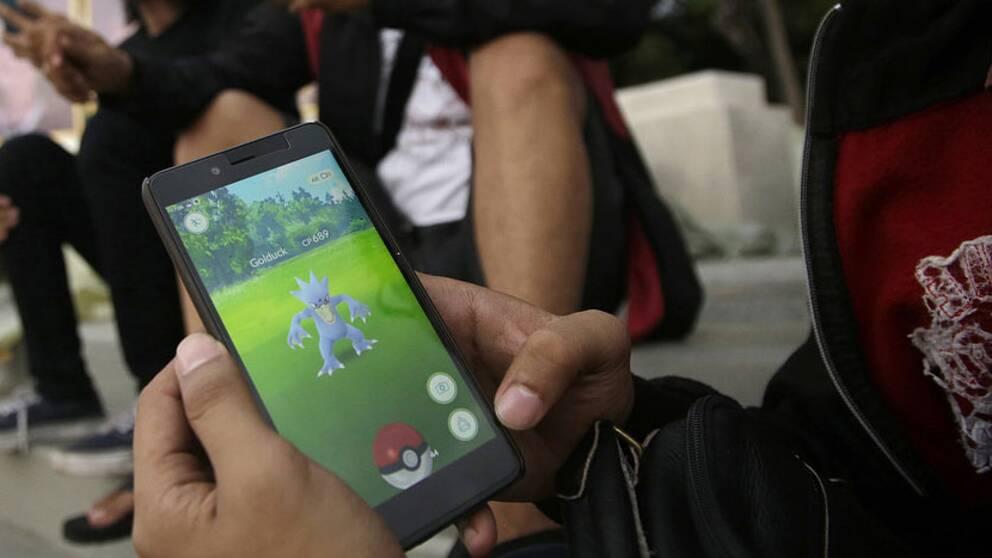 Pokémon Go spelare utomuhus