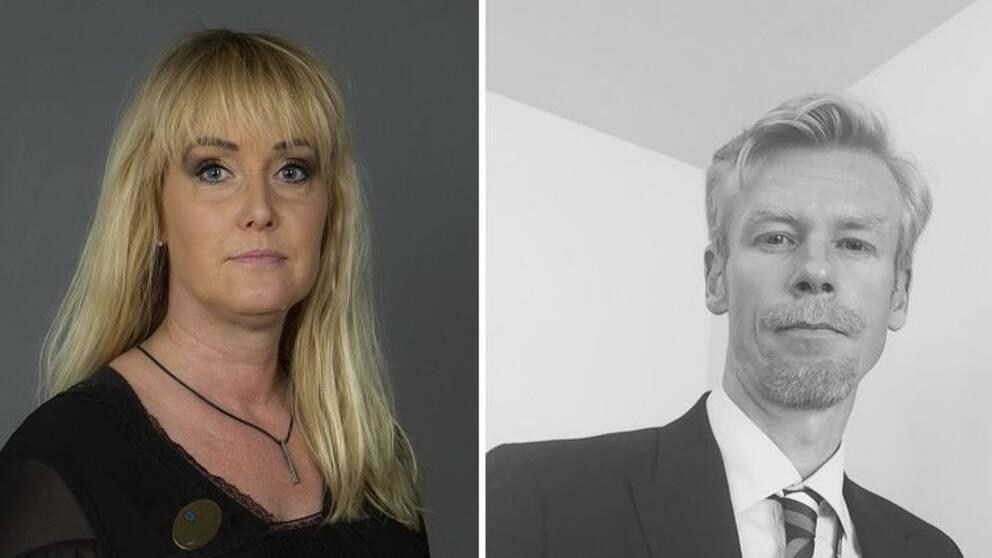 Anna Jonazon (S) och Ole-Jörgen Persson (M)