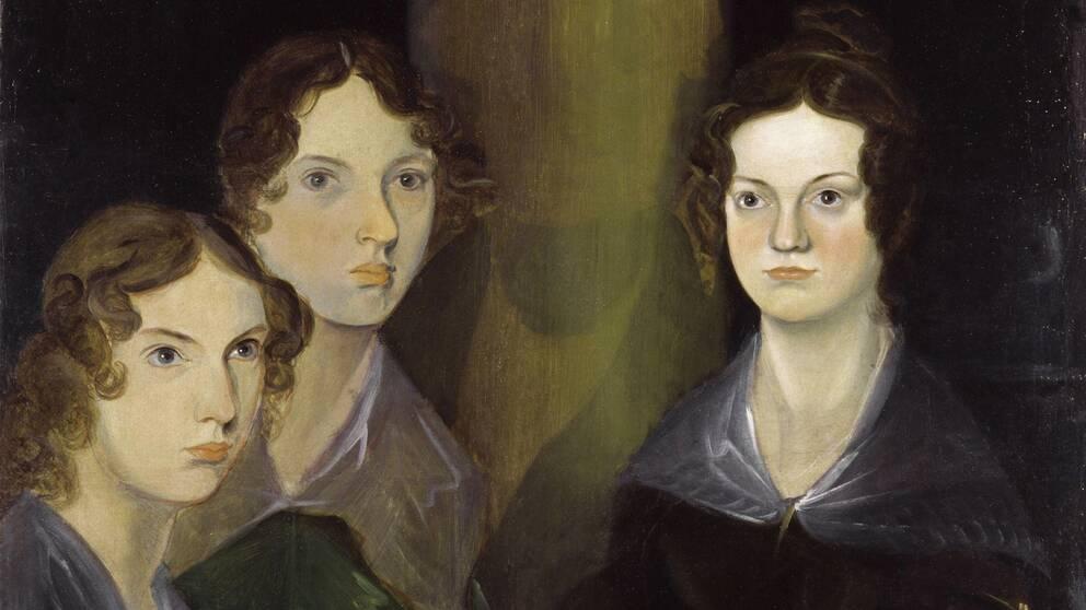 En målning av författarsystrarna Anne, Emily och Charlotte Brontë, gjord av deras bror Branwell.