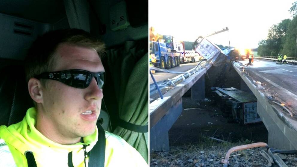 Nicklas Jansson såg olyckan ske mitt framför ögonen.
