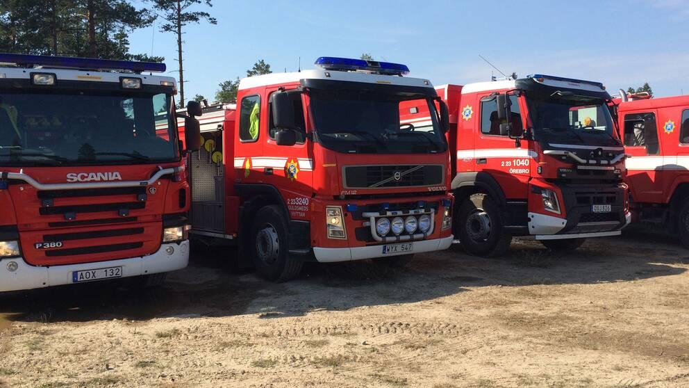 Nerikes brandkår, skogsbrand, Bocksboda, Kilsbergen.