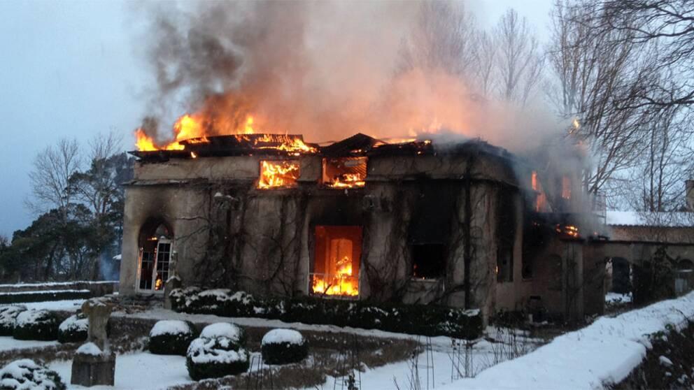Villa Muramaris totalförstördes vid en misstänkt mordbrand natten till den 18 januari 2013.