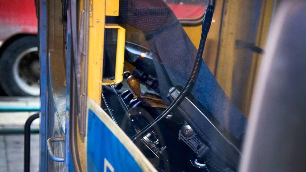 Tåget som körde in i ett hur i Saltsjöbaden i Stockholm. Foto: Scanpix/TT