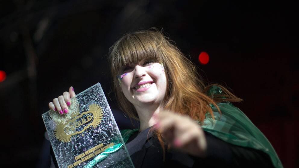 Linnea Henriksson blev årets artist vid P3 Guld-galan.