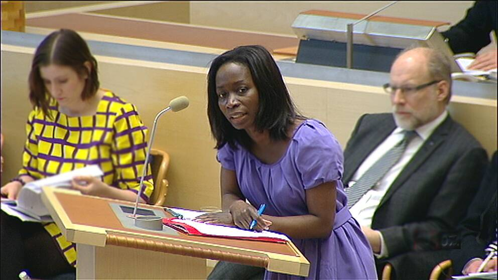 Nyamko Sabuni i riksdagen