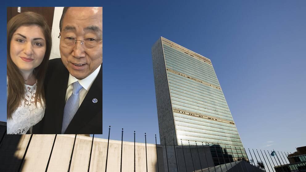 Romiana Bikasha / Ban Ban Ki-moon / FN-skrapan i New York