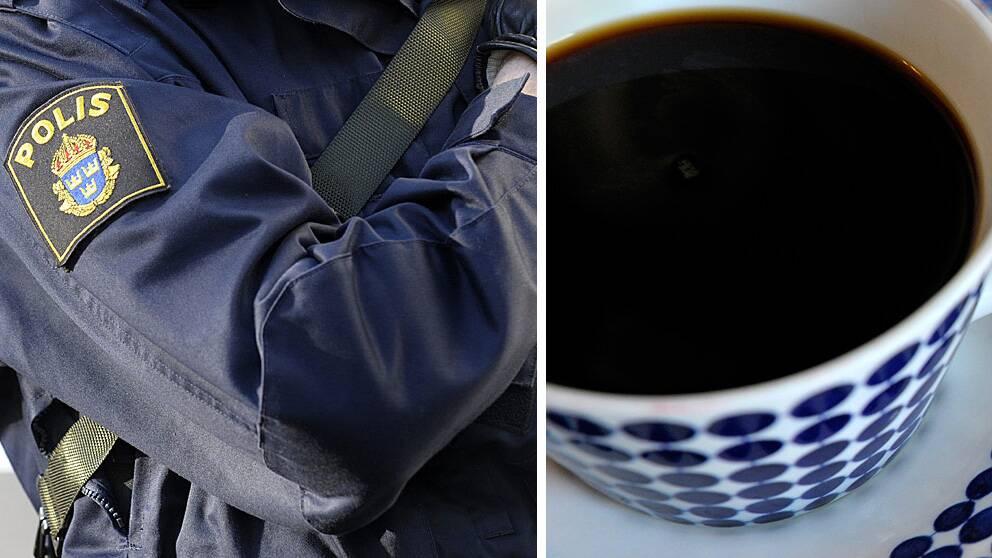 Polis och kaffe
