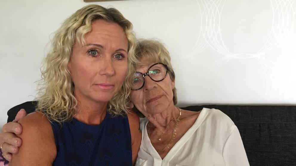 Annelie Hålén och hennes mamma Solbritt Björkstrand