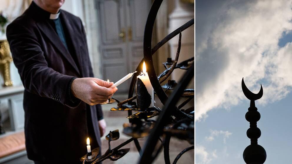 Präst, kyrka, Islam, halvmåne