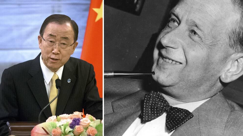 Ban Ki-Moon och Dag Hammarskjöld.