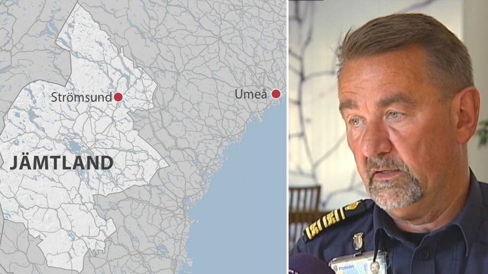 Stephen Jerand, polisområdeschef i Jämtland är kritisk till hur situationen hanterades av RLC i Umeå.