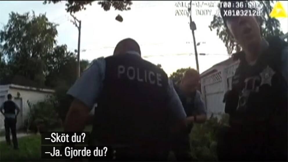 Poliser efter skottlossningen