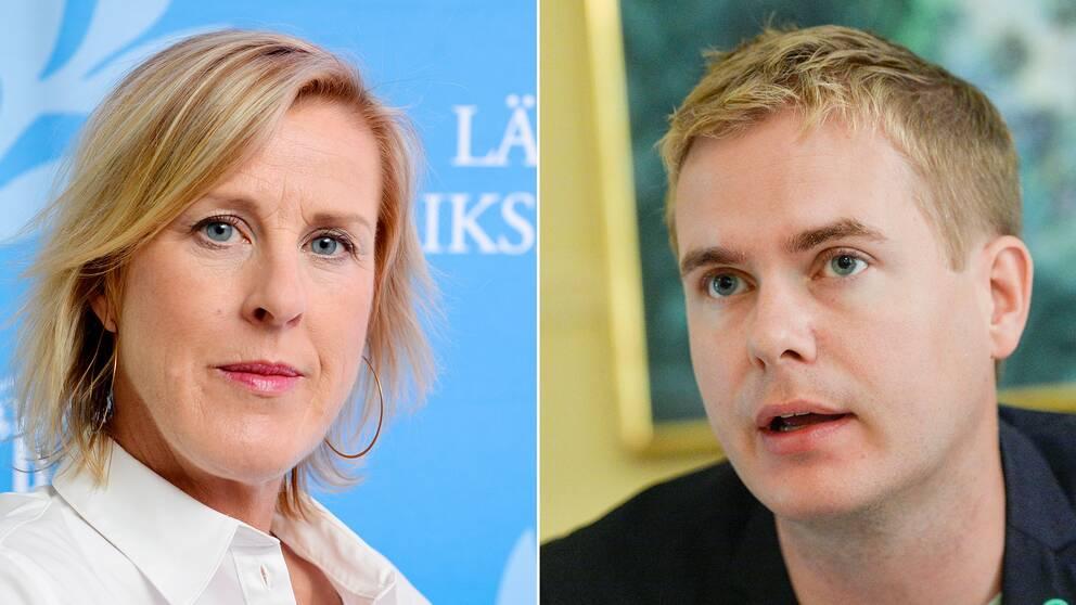 Åsa Fahlén från Lärarnas riksförbund och utbildningsminister Gustav Fridolin (MP) anser båda att kommunerna måsta ta mer ansvar för skolorna.