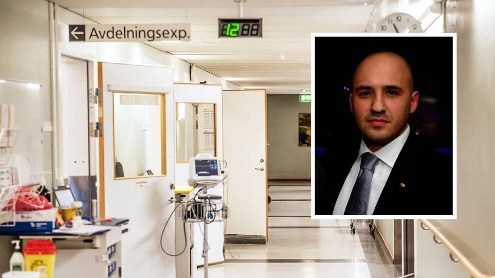 Läkaren Ardavan Khoshnood i sjukhus miljö sjukhusmiljö sjukhus