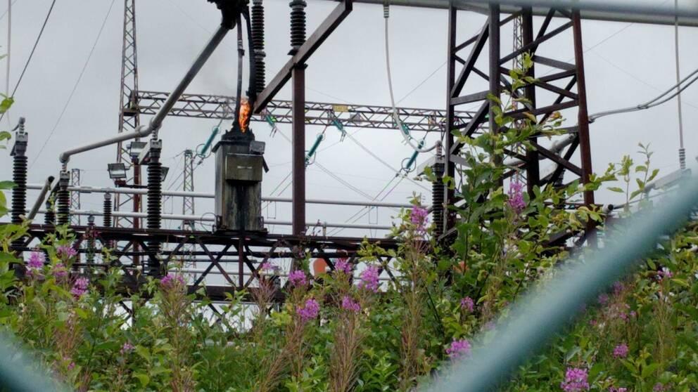 Brinner igen i transformator i Borlänge