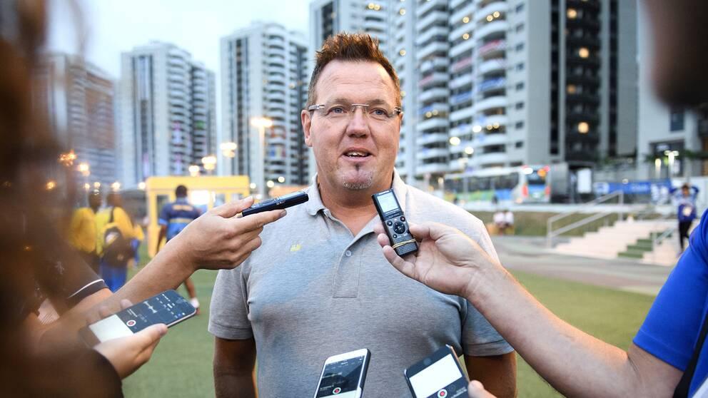 Håkan Dahlby på plats i Rio.
