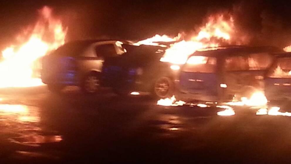 Bilbränder i Vingåker