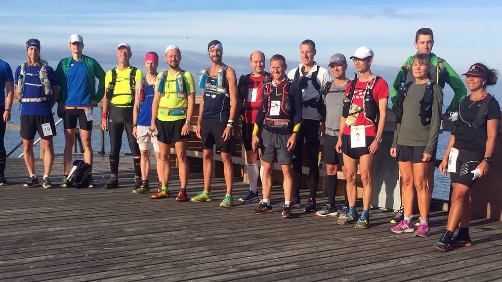 Några av deltagarna i det 246 kilometer långa terrängloppet.