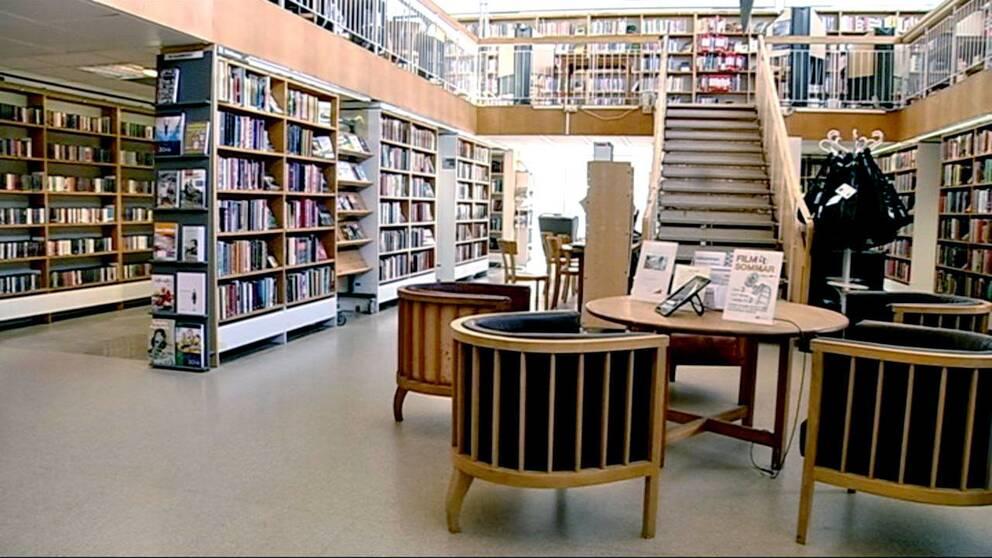 Få lån på biblioteken i Blekinge.