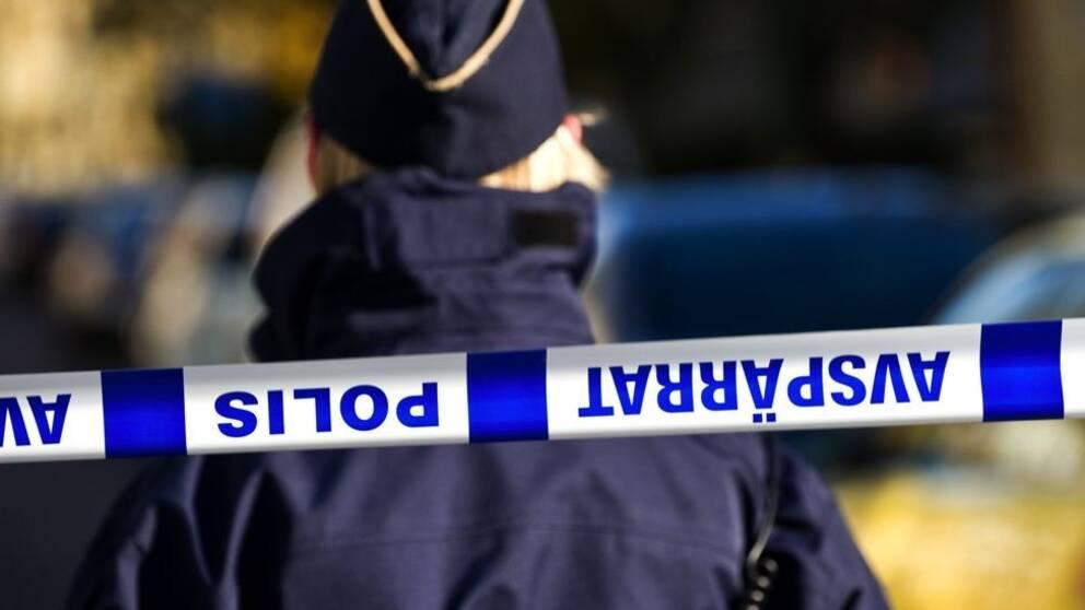 polis avspärrning