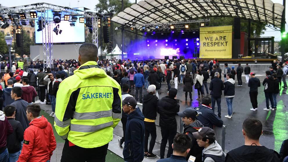 En bild från festivalområdet.